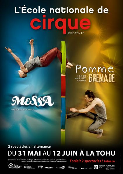 Ecole nationale de cirque Messa Pomme grenade